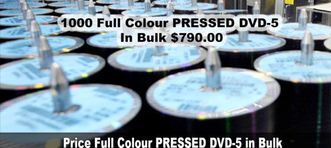Price Full Colour PRESSED DVD-5 in Bulk